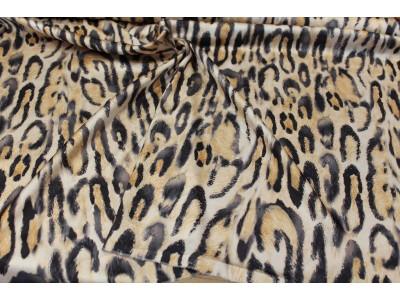 Satén leopardo desigual