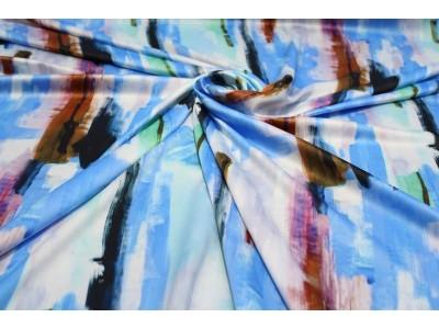 Piel de ángel pinceladas azul