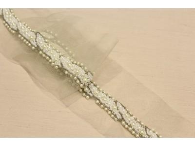 Pasamanería perlas/plata