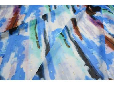 Plumeti lúrex pinceladas azul