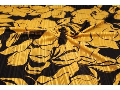 Gasa estampada lúrex amarillo