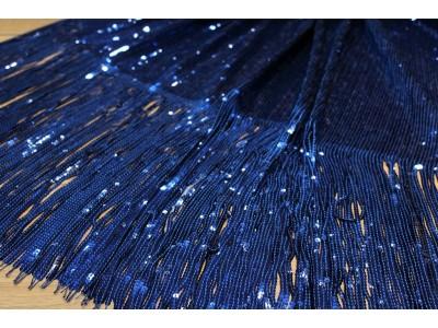 Lentejuelas fleco azul