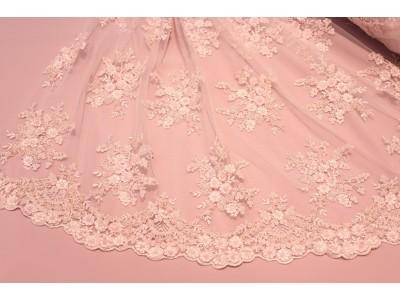 Bordado perlitas rosa