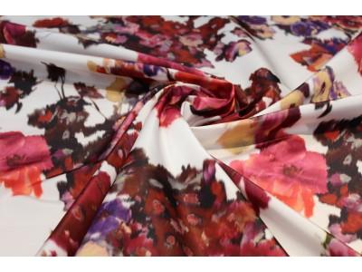 Tafeta flor rojo/fucsia