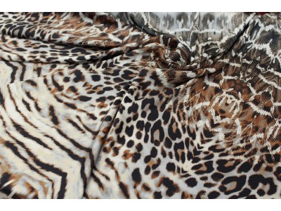 Satén animal print